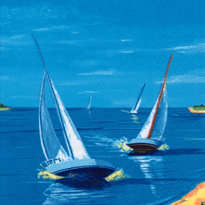 20 Servietten - 33 x 33 cm Sail away,  Regionen - Strand / Meer - Schiffe,  Everyday,  lunchservietten