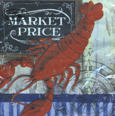 Lunch Servietten Market Price - Lobster