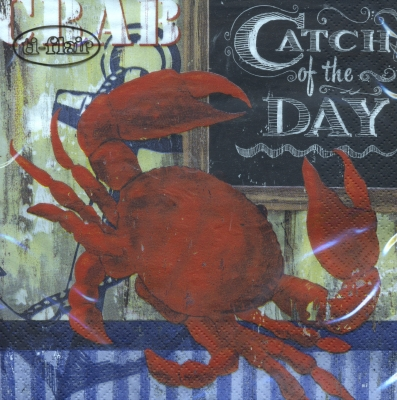 Lunch Servietten Catch of the Day - Crab