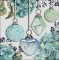 Servietten 33x33 cm - Hanging Baubles Green
