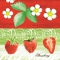 Linclass Servietten 40x40 cm - Strawberry